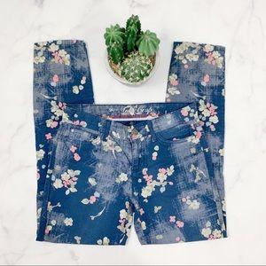 Tommy Hilfiger Floral Skinny Ankle Crop Jeans